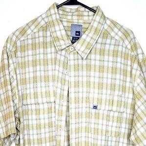 Quicksilver Men's XL Plaid Button Short Sleeve